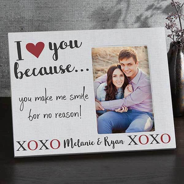 I love you because custom photo frame