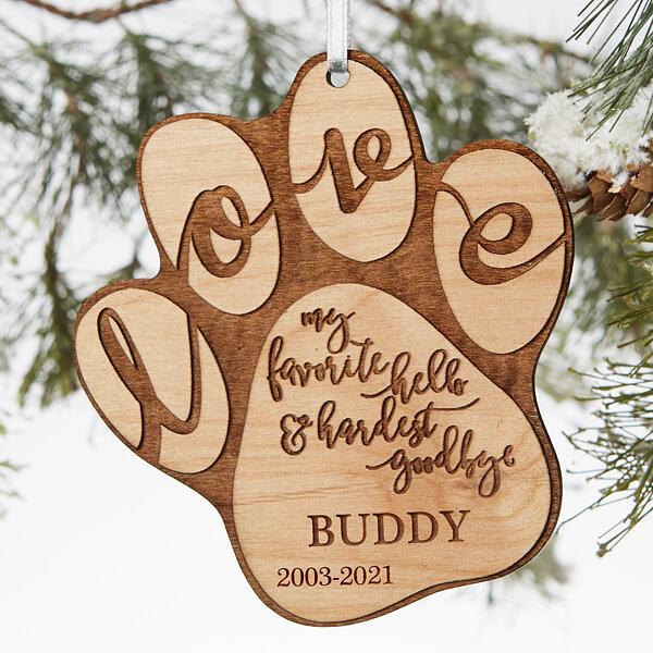 Engraved Pet Memorial Ornament