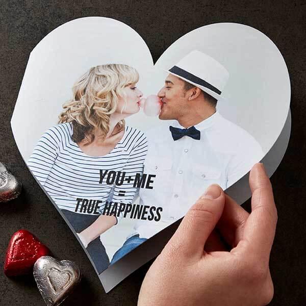 You + Me Photo Hear-Shaped Card