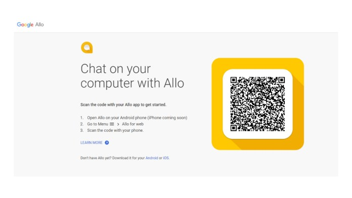 Google Allo for the Web