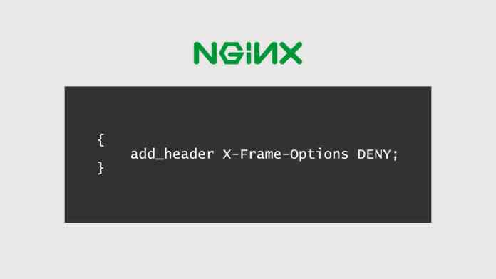 Config for X-Frame-Options for the web