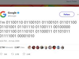 Google First Ever Tweet on Twitter Social Network