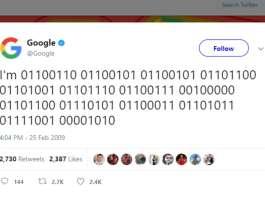 Google First Ever Tweet on Twitter Social Network