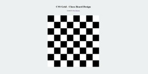 Design Chess Board using CSS Grid