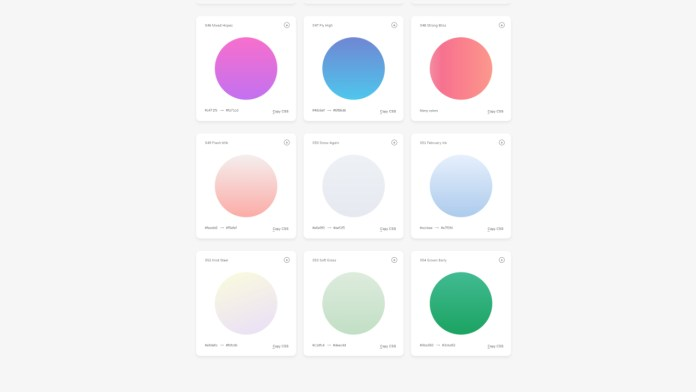 Beautiful gradients code for the web with WebGradients