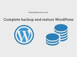 Complete backup and restore WordPress