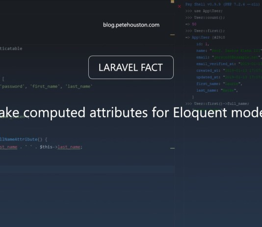 Make computed attributes for Eloquent models