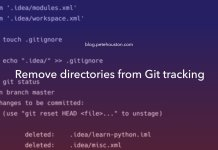 Remove directories from Git tracking