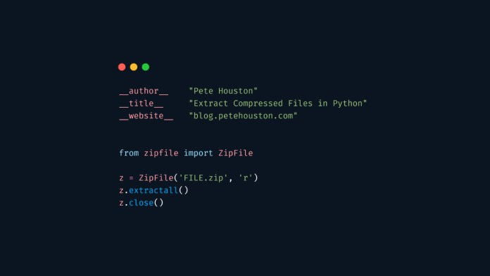 Extract compressed files in Python