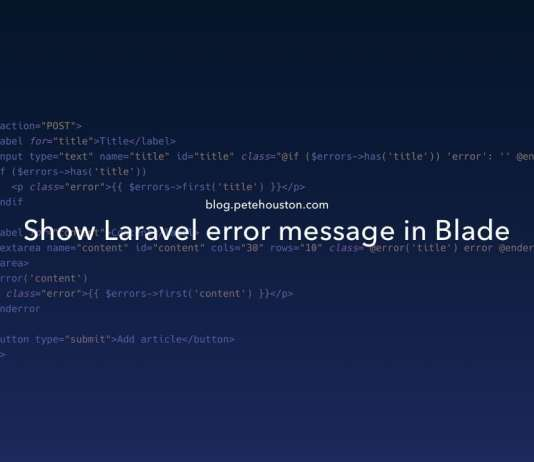 Show Laravel error message in Blade
