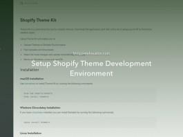 Setup Shopify Theme Development Environment
