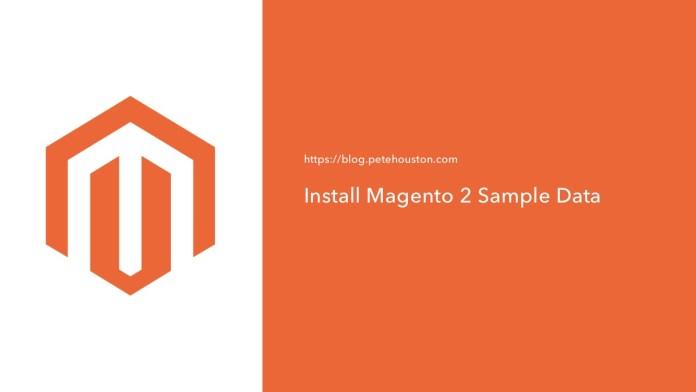 Install Magento Sample Data