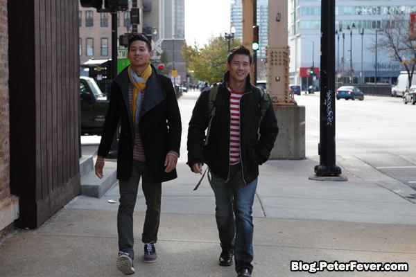 Strolling through Chicago