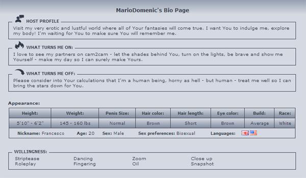 MarioDomenic-Bio