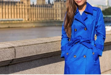 blue trench coats petite size