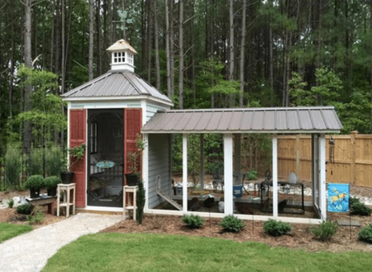 large custom chicken coop