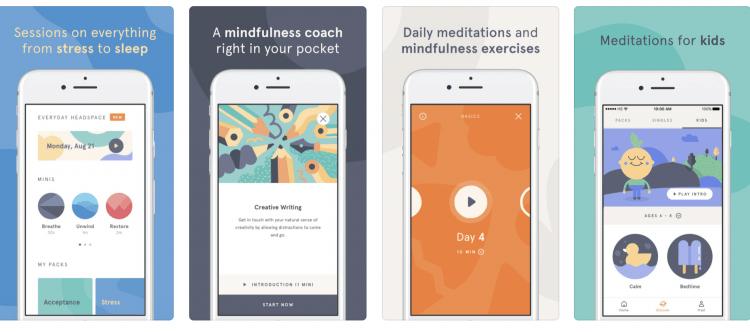 image of meditation app