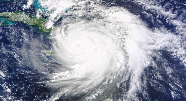 A satellite image of Hurricane Matthew over eastern Cuba