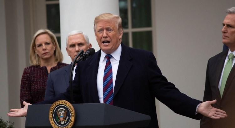 President Trump speaks to reporters in the rose garden