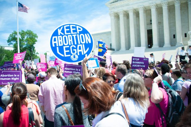 abortion protest outside supreme court.