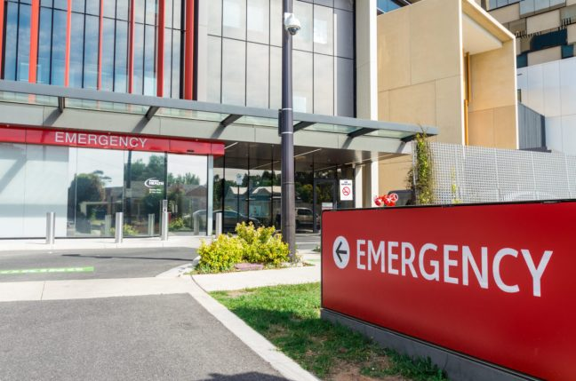 Emergency department entrance.