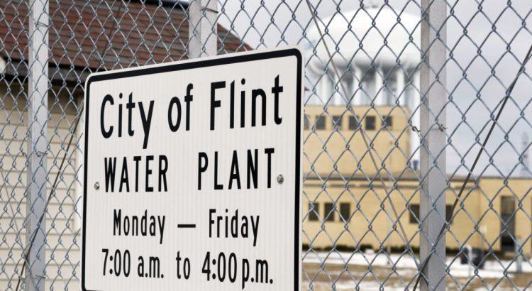 FLINT, MICHIGAN January 23, 2016: City Of Flint Water Plant Sign In Flint, January 23, 2016, Flint, Michigan.