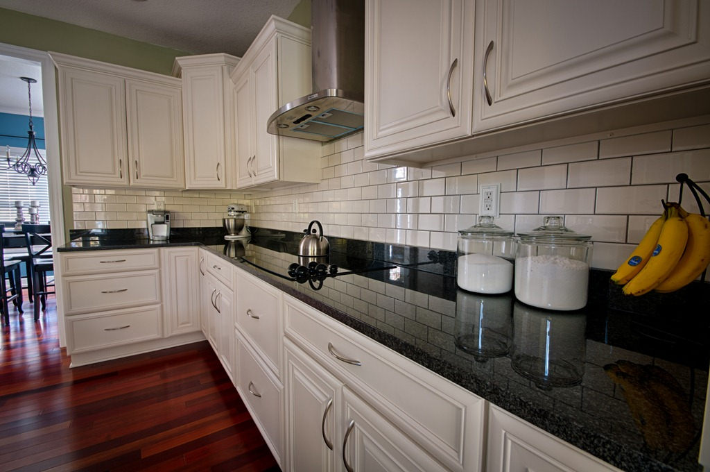 Featured DIY Blog: Decor and the Dog - Pfister Faucets ... on Backsplash For Black Granite Countertops And White Cabinets  id=27987