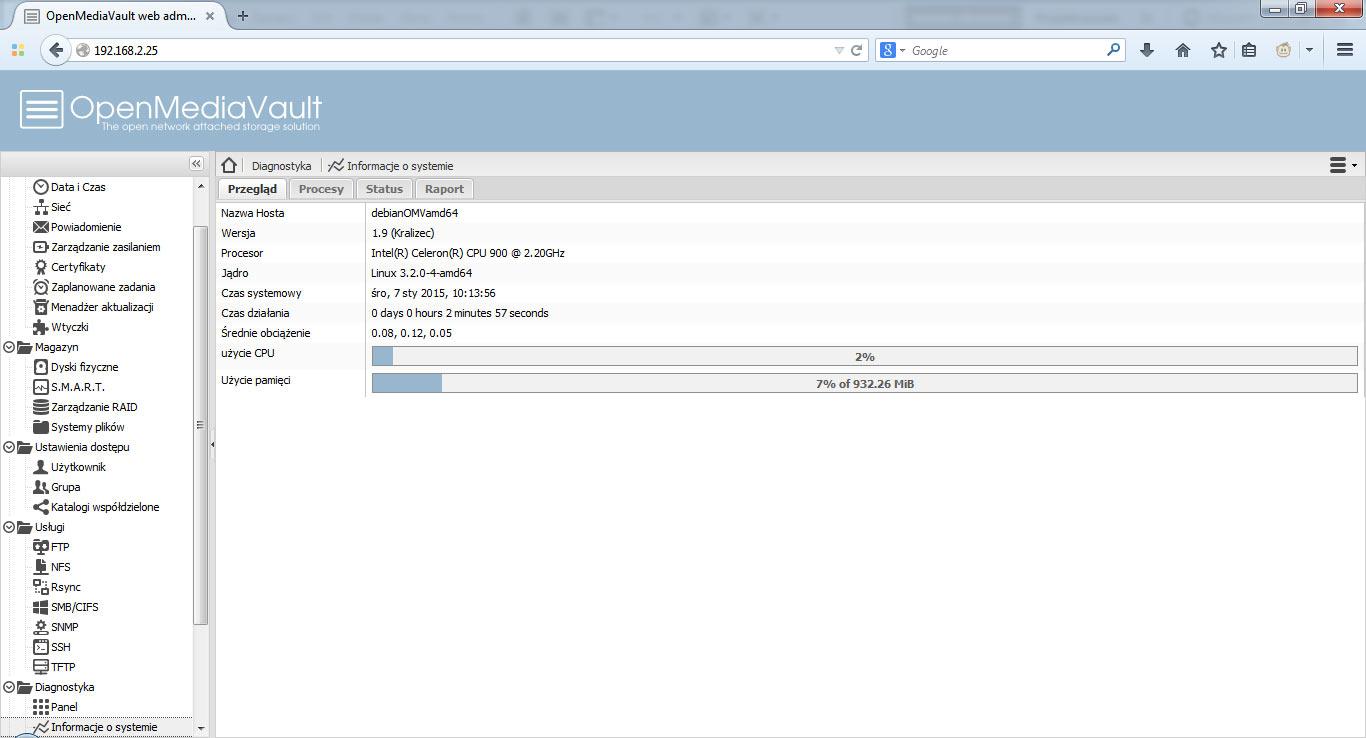 Instalacja OpenMediaVault Debian