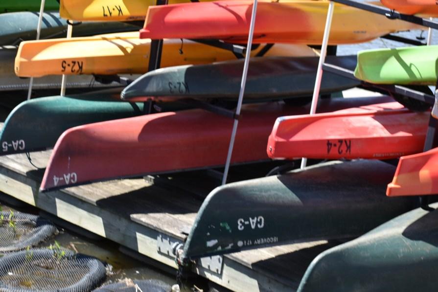 Kayaks and canoes at Bladensburg Waterfront Park
