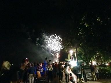 Festivalfeuerwerk Cairns Uferpromenade