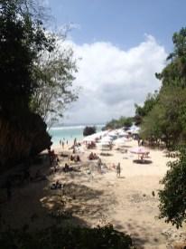 Das ist der Beach an der Westküste der Bukit Peninsula, an den jeder geht.