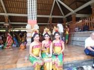 Verkleidung für ein Tempelfest in Tirta Empul?