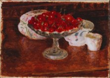 Pierre Bonnard, Bowl of Cherries, 1920. Oil on canvas, 11 7/8 x 16 1/2 in. Gift of Marion L. Ring Estate, 1987.