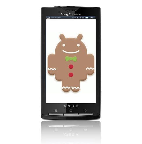 Sony Xperia Gingerbread update