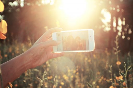 selfie contraluz