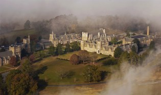 Aerial view of Ford Buildings at Berry College
