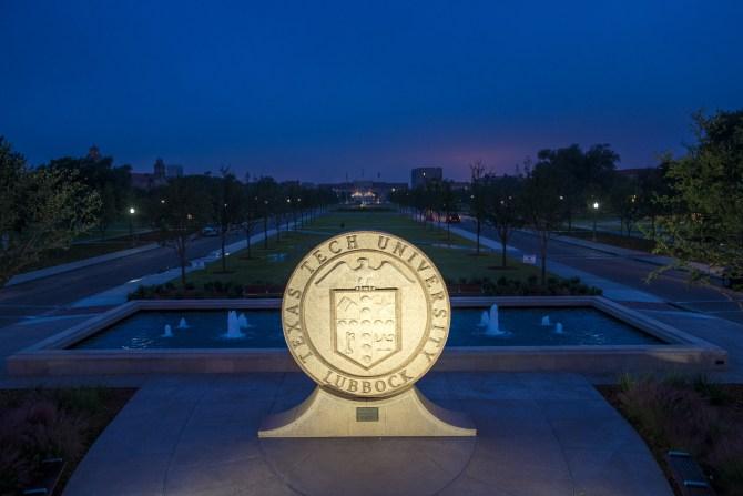 Texas Tech Seal at dawn