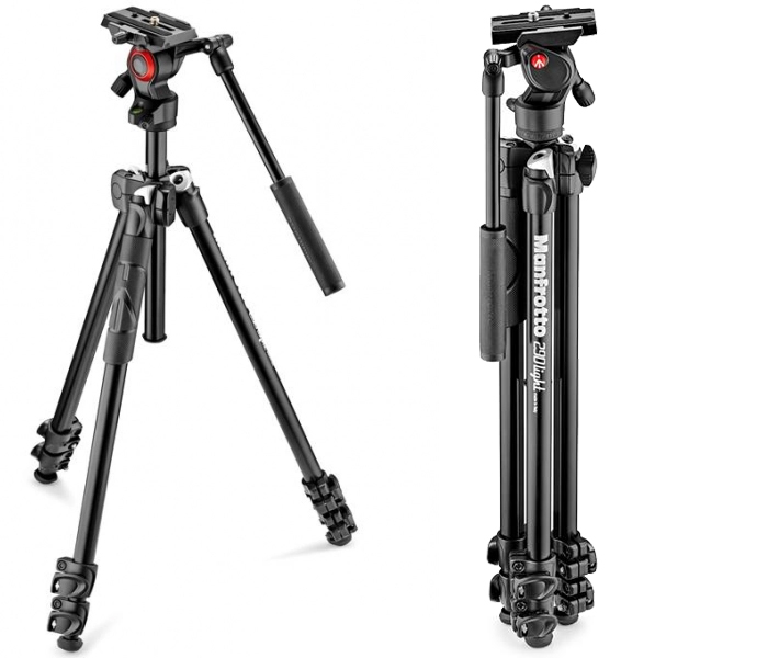 Manfrotto 290LTA kit trepied video