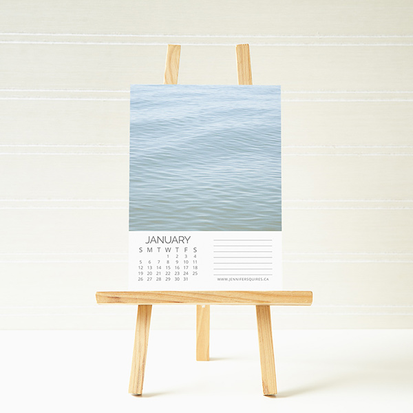 Jennifer Squires creates wall calendars for past and potential clients