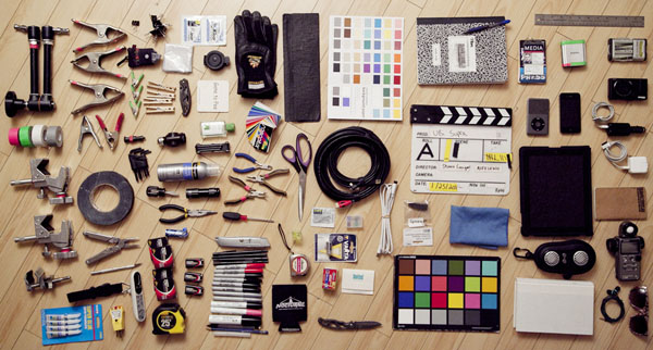 Take into consideration the tools you use that aren't exactly camera/lighting gear. Image of Shawn Corrigan's tool kit