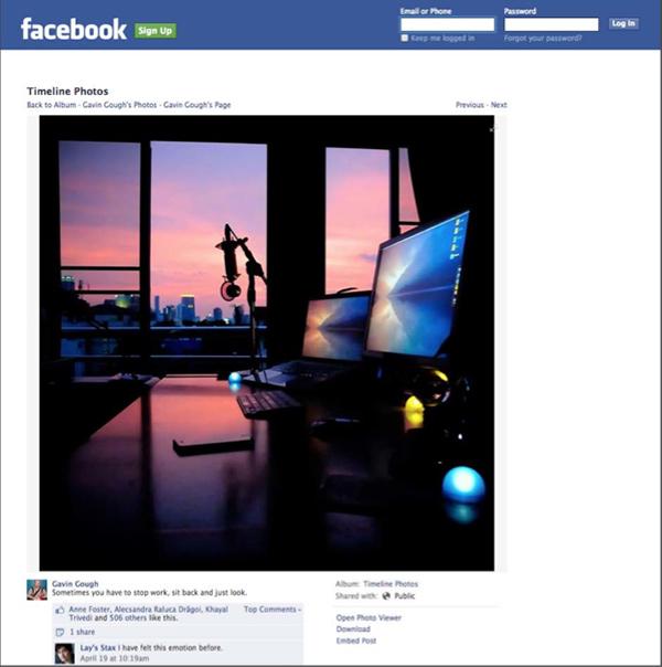 Gavin Gough's Facebook Page