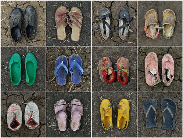 A Long Walk (Refugee Shoe Project)