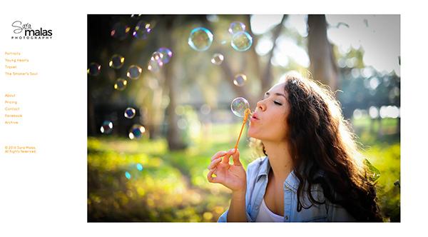 Sara Malas PhotoShelter homepage