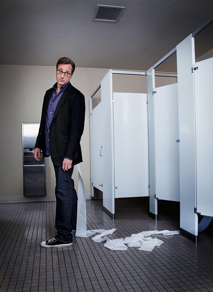 "Bob Saget from Brasington's ""Comedians in Bathrooms"" series"