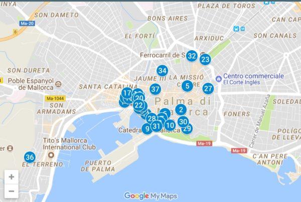 Cartina Palma di Maiorca Spagna
