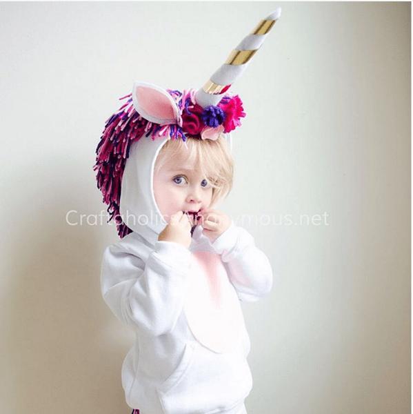Costume da unicorno fai-da-te