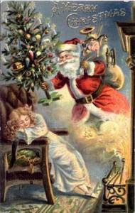 Scarica subito l'illustrazione vettoriale lettera a babbo natale vintage cartolina. Cartolina Di Natale Vintage Mamma E Casalinga
