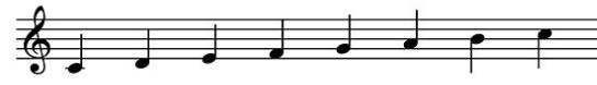 majeur-toonladder-c