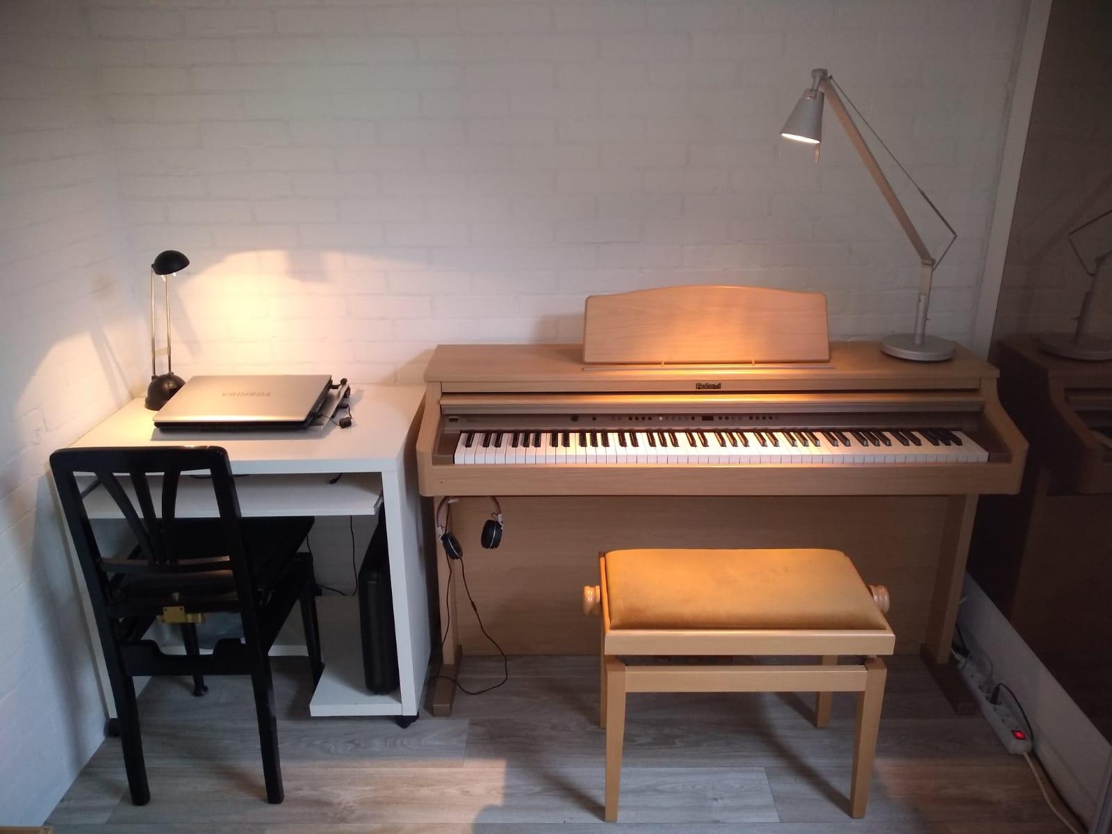 Pianoles praktijkruimte in Rotterdam