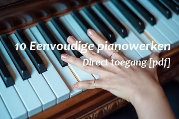 eenvoudige-pianowerken-bladmuziek